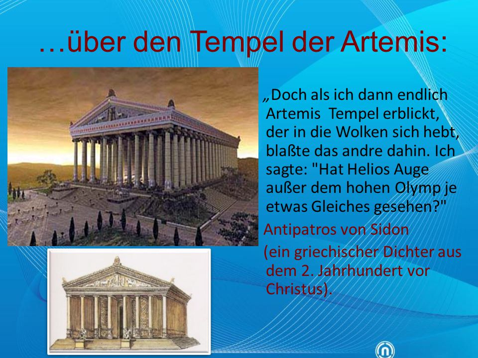 …über den Tempel der Artemis: