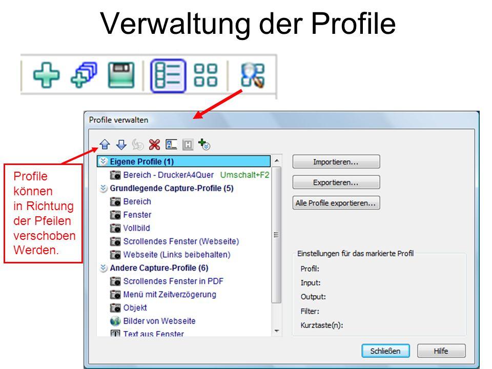 Verwaltung der Profile