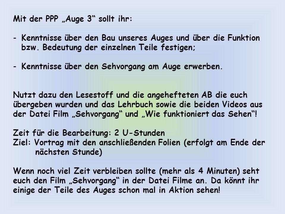 """Mit der PPP """"Auge 3 sollt ihr:"""