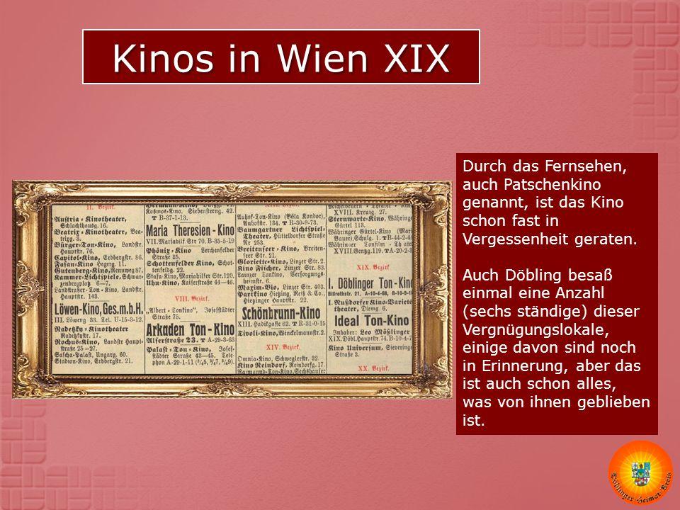 Kinos in Wien XIX
