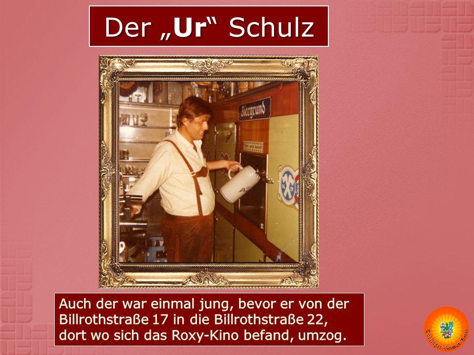 """Der """"Ur Schulz Auch der war einmal jung, bevor er von der Billrothstraße 17 in die Billrothstraße 22, dort wo sich das Roxy-Kino befand, umzog."""