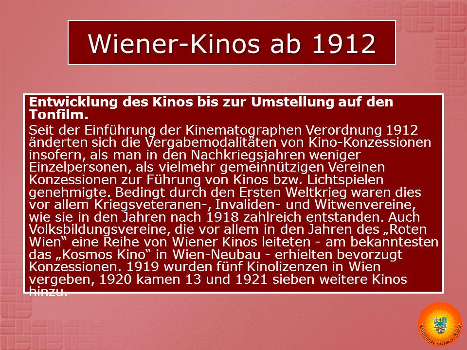 Wiener-Kinos ab 1912