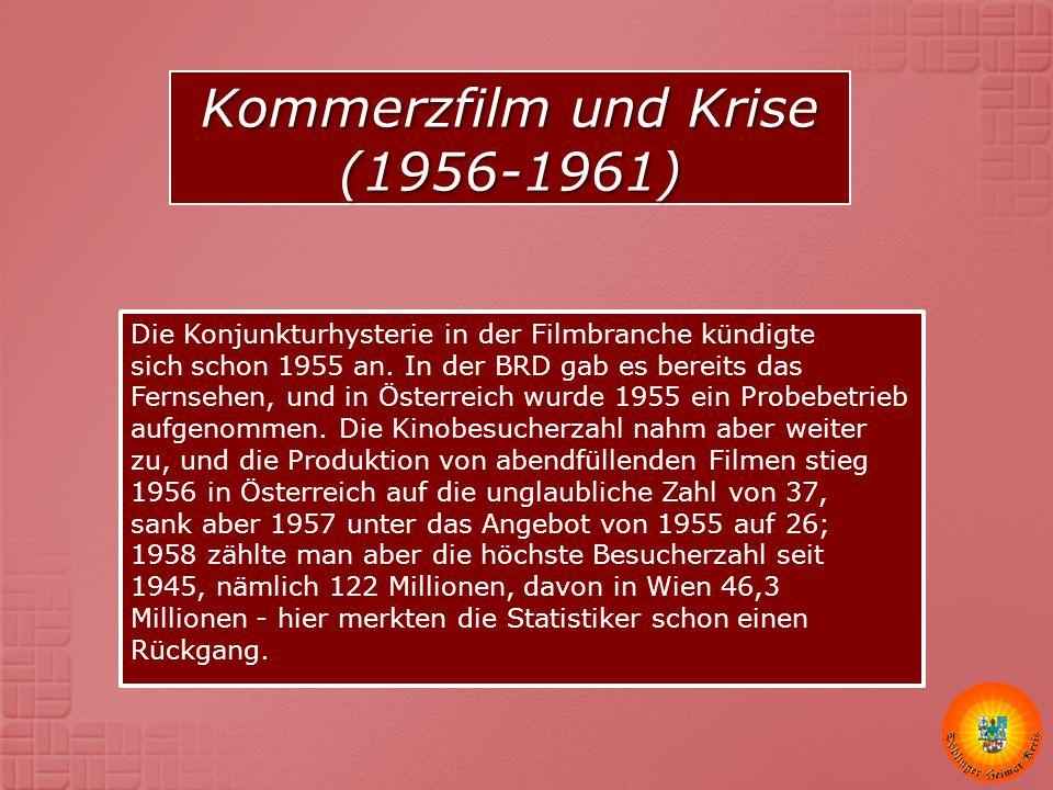 Kommerzfilm und Krise (1956-1961)