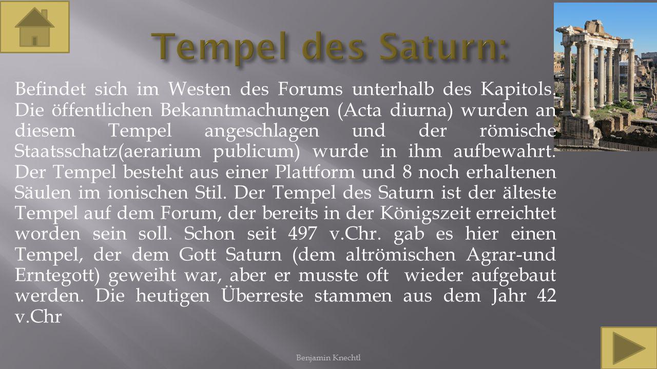 Tempel des Saturn: