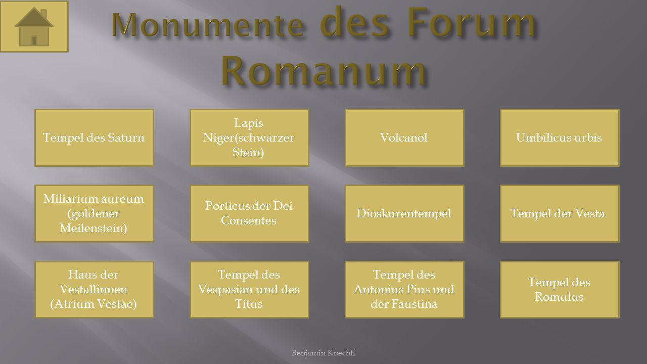 Monumente des Forum Romanum