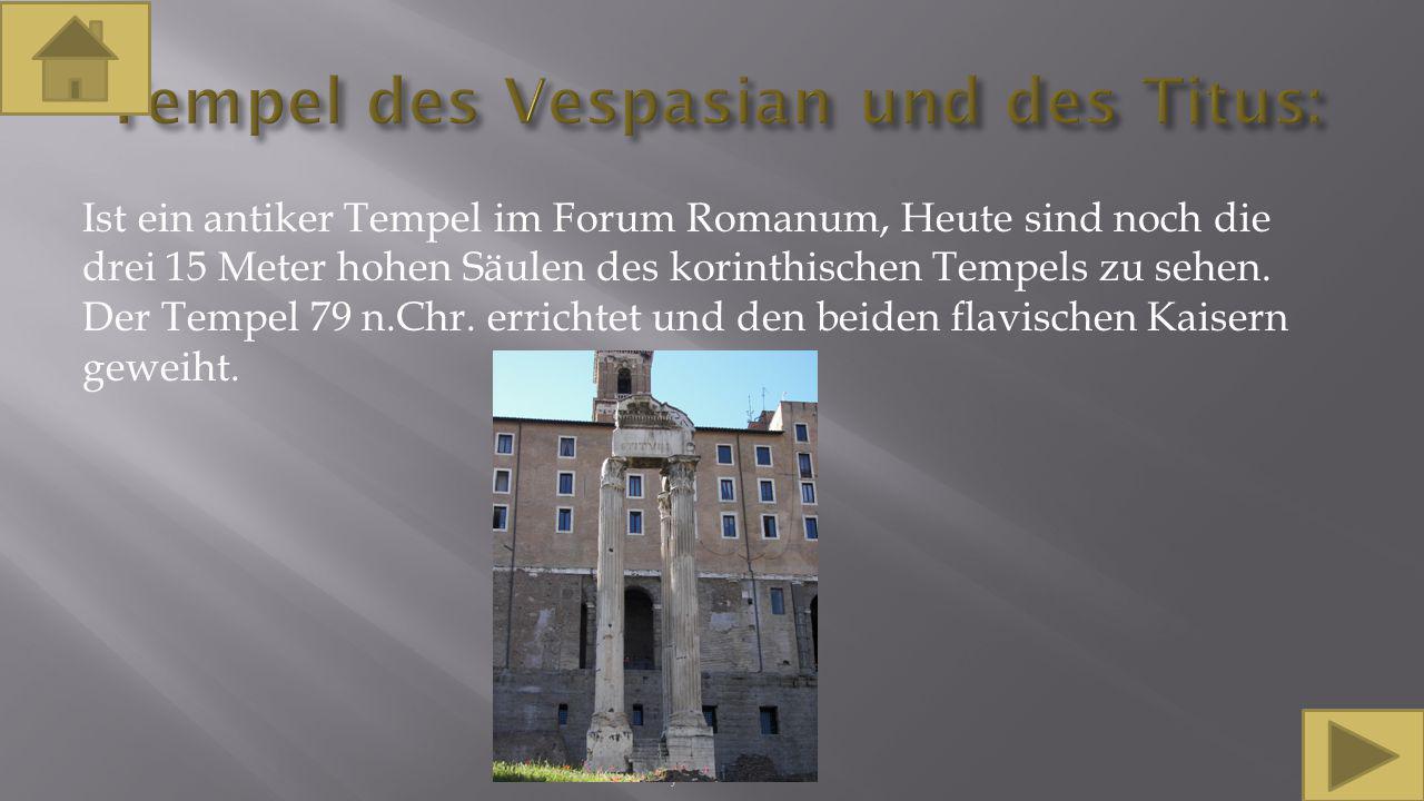Tempel des Vespasian und des Titus: