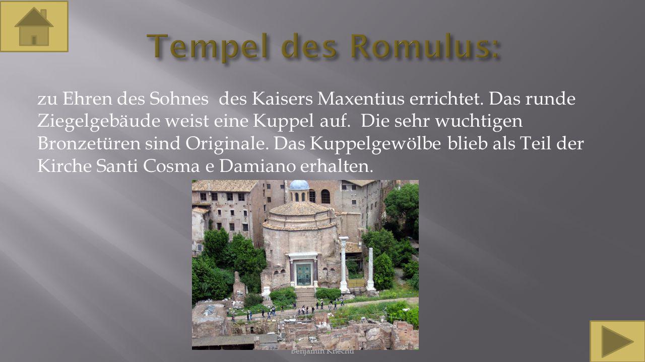 Tempel des Romulus: