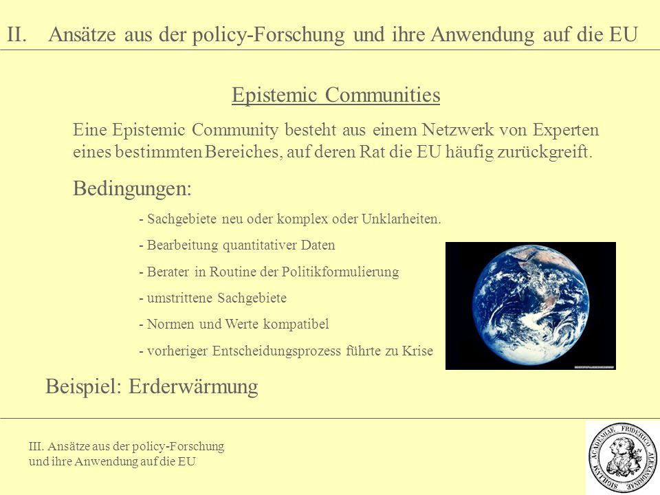 Epistemic Communities