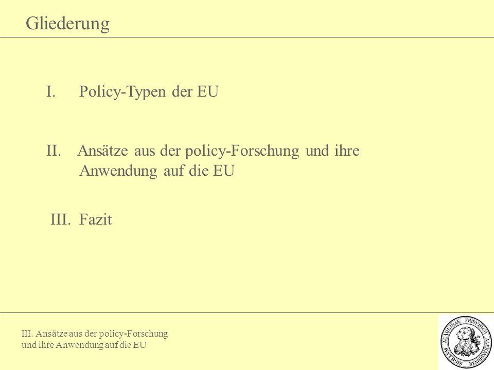 Gliederung Policy-Typen der EU