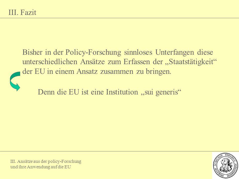 """Denn die EU ist eine Institution """"sui generis"""
