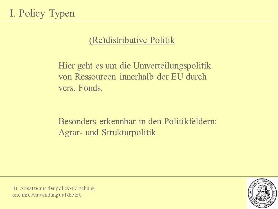 (Re)distributive Politik