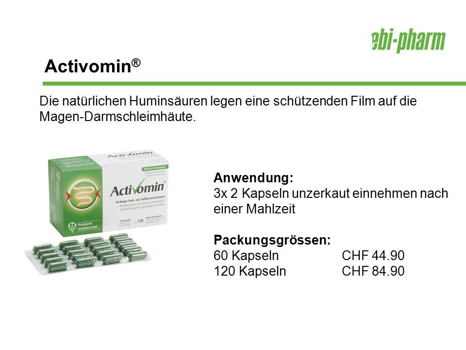 Activomin® Die natürlichen Huminsäuren legen eine schützenden Film auf die Magen-Darmschleimhäute.