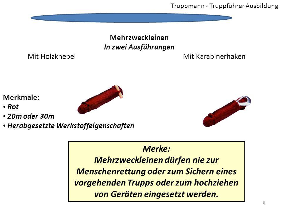 Truppmann - Truppführer Ausbildung