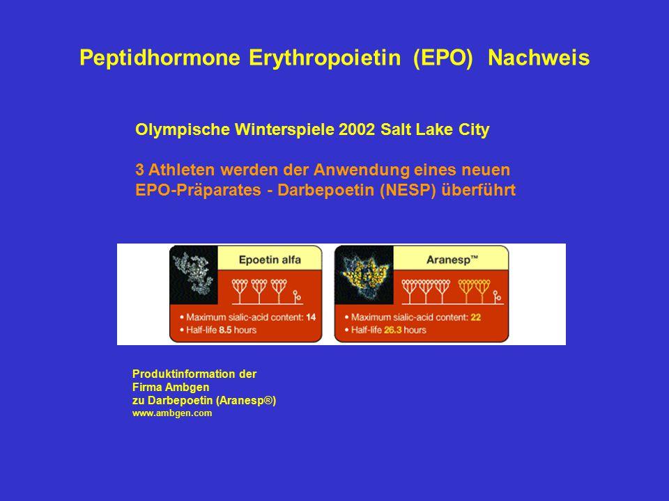 Peptidhormone Erythropoietin (EPO) Nachweis