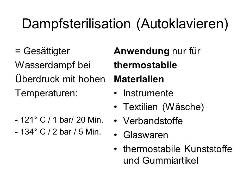 Dampfsterilisation (Autoklavieren)