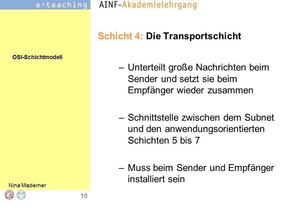 Schicht 4: Die Transportschicht