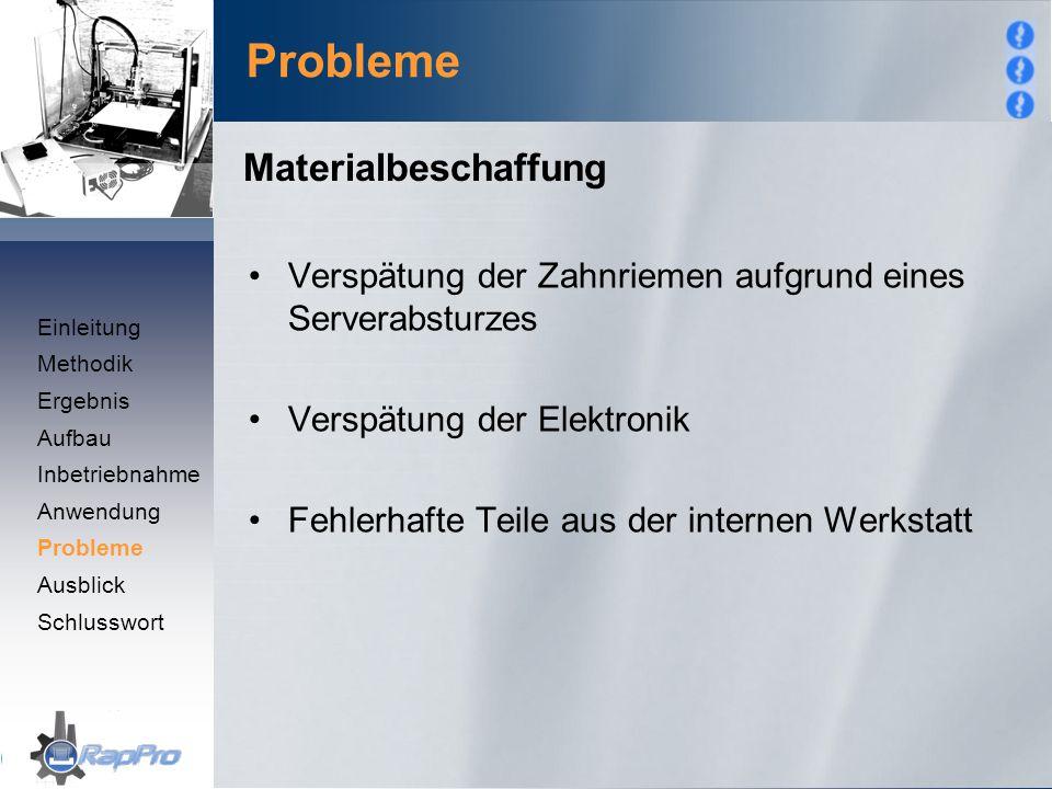 Probleme Materialbeschaffung