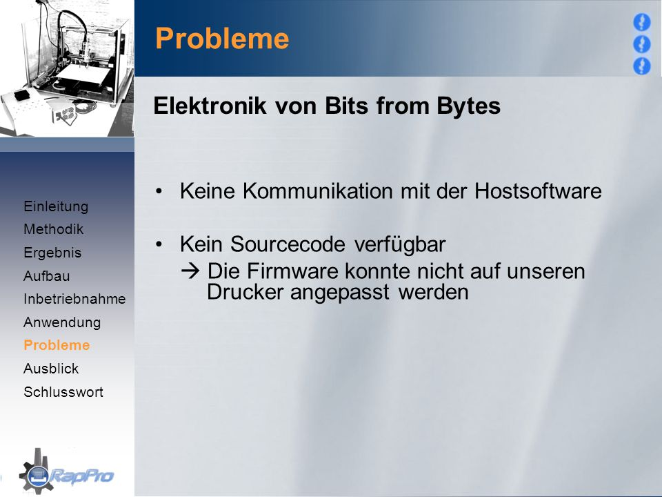 Probleme Elektronik von Bits from Bytes