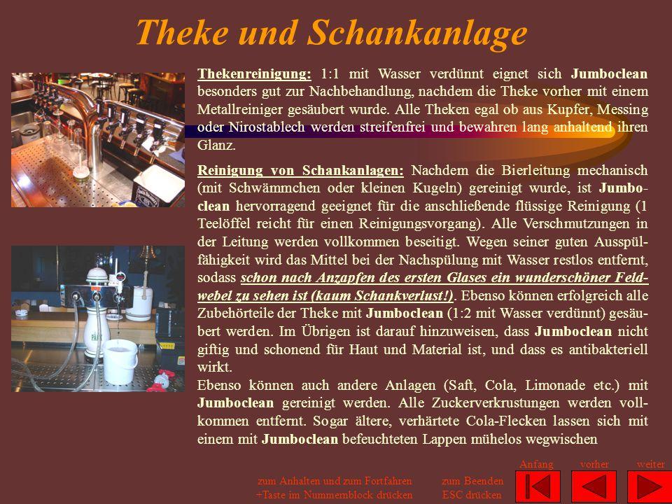 Theke und Schankanlage