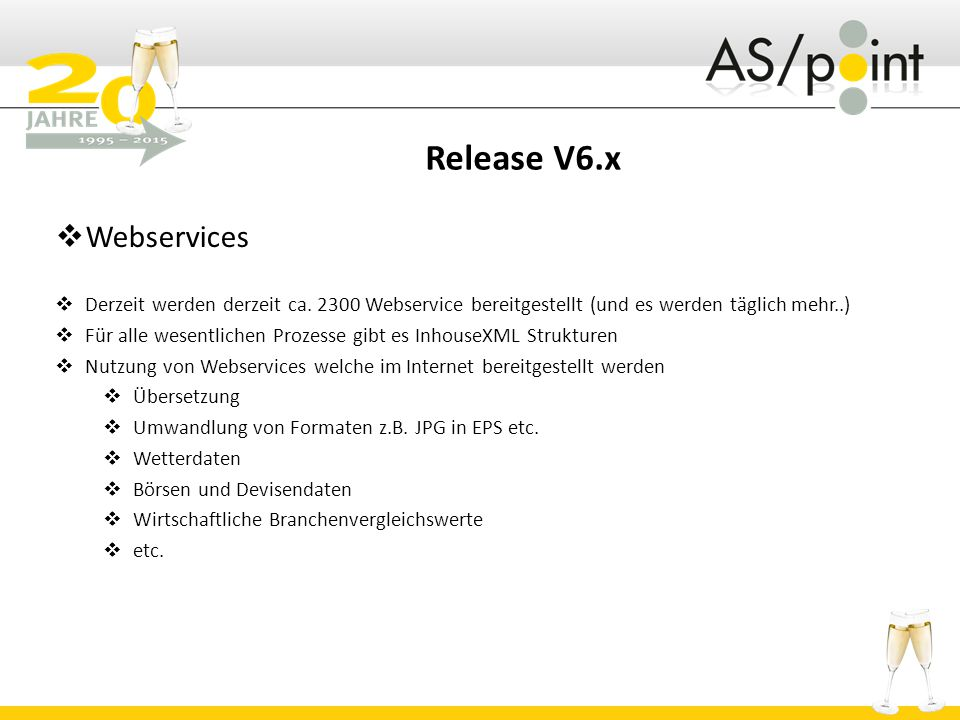Release V6.x Webservices