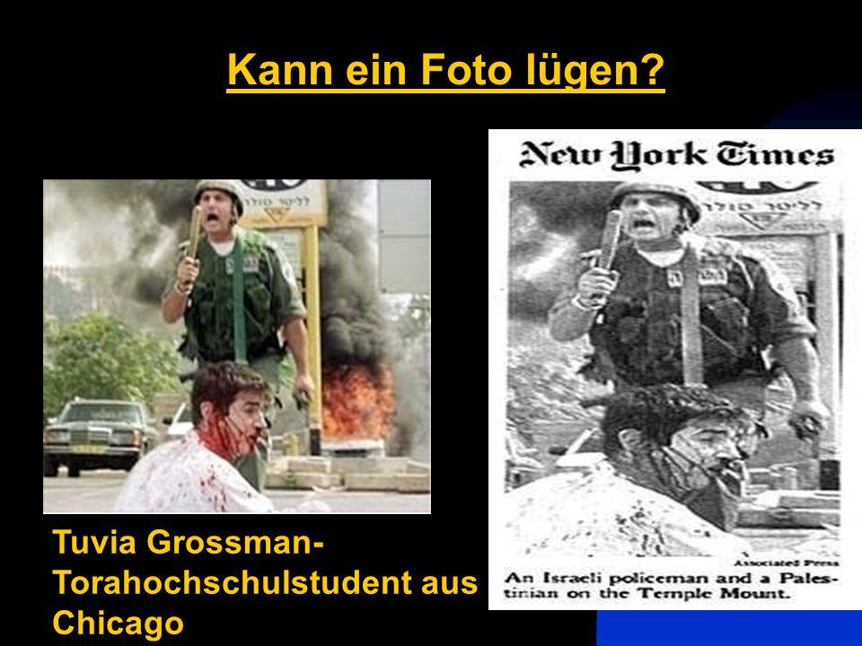 Kann ein Foto lügen Tuvia Grossman-Torahochschulstudent aus Chicago