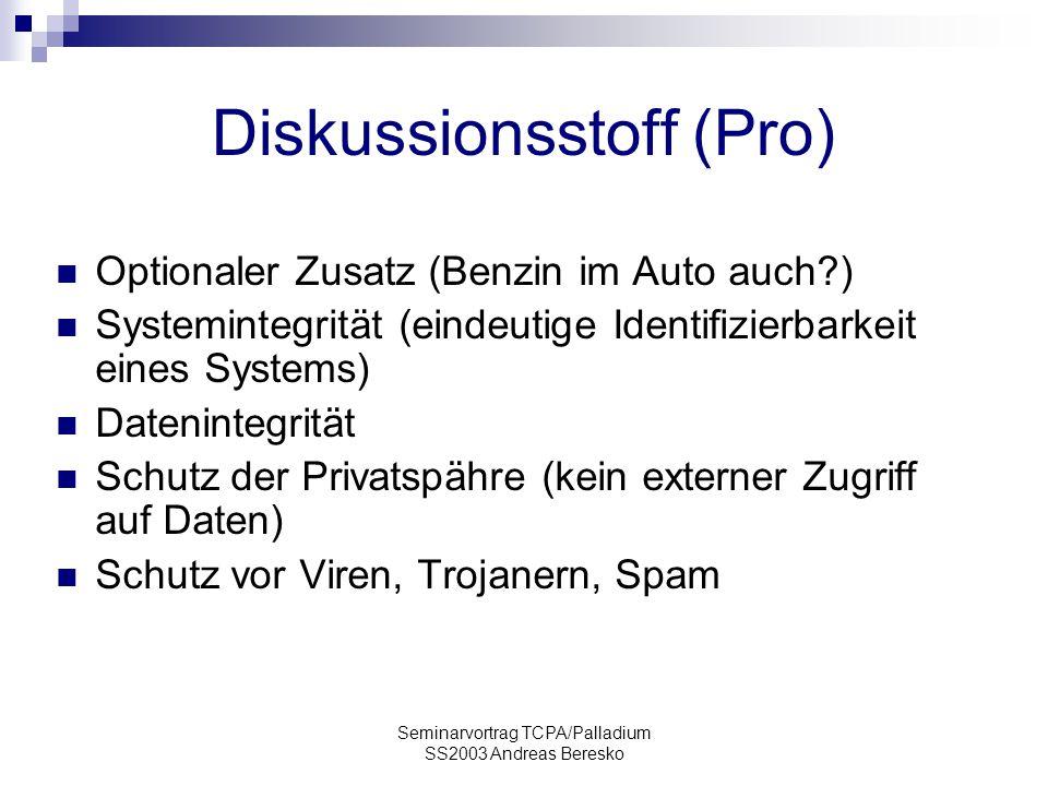 Diskussionsstoff (Pro)