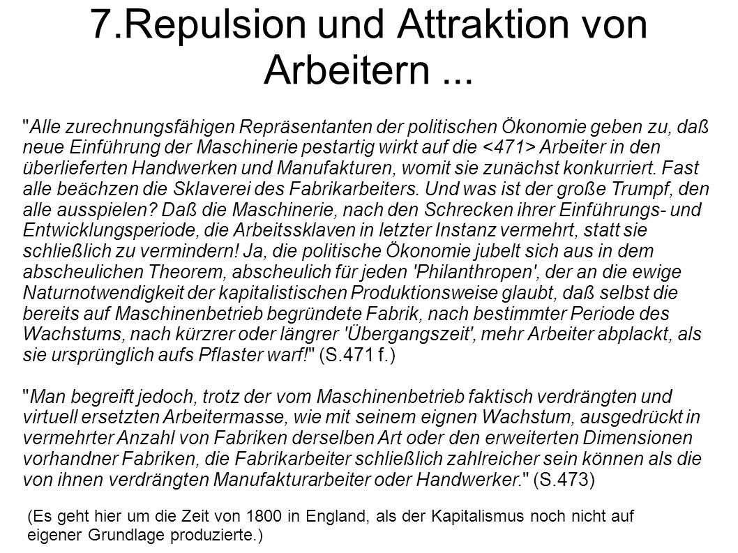 7.Repulsion und Attraktion von Arbeitern ...