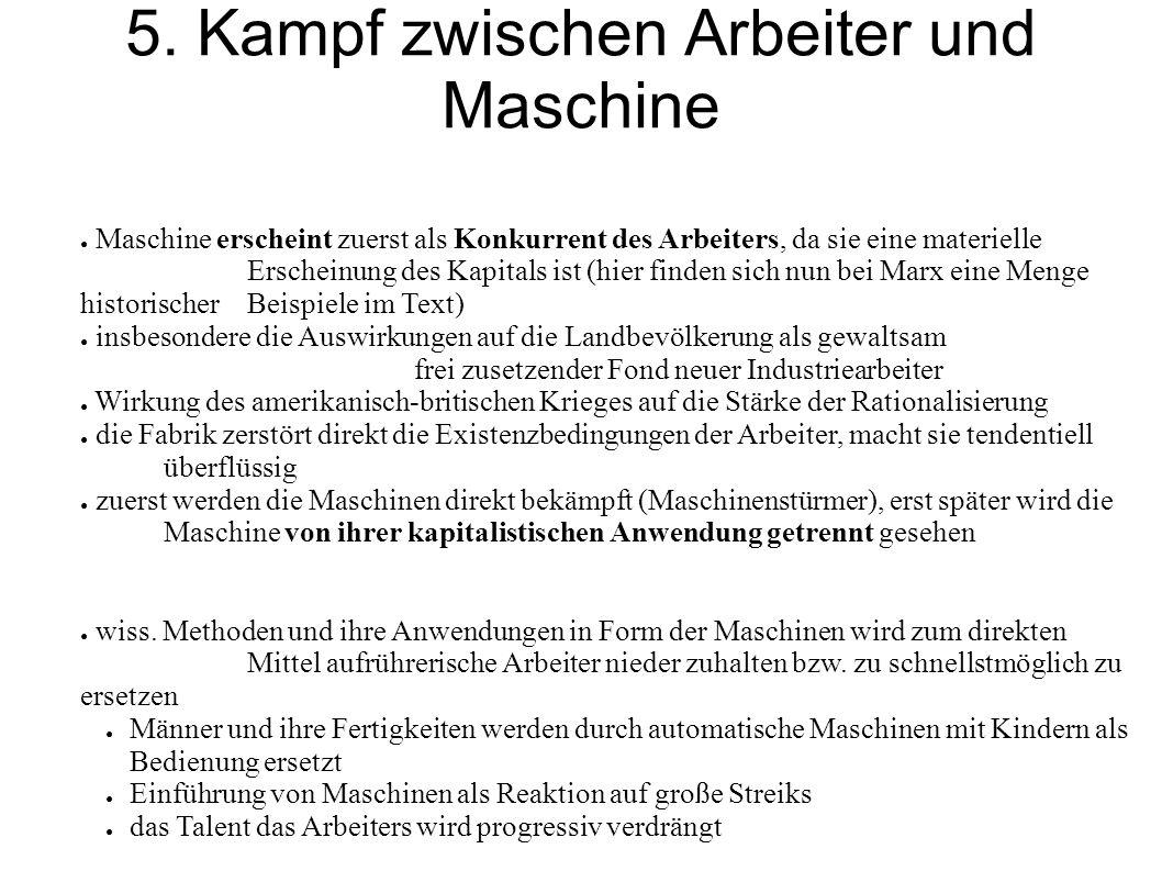 5. Kampf zwischen Arbeiter und Maschine