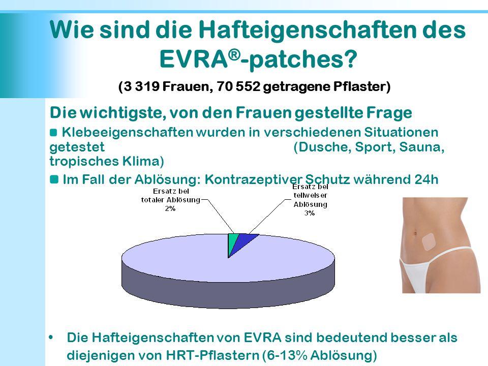 Wie sind die Hafteigenschaften des EVRA®-patches