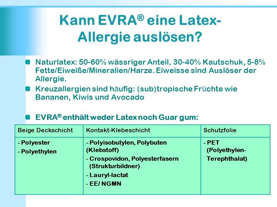 Kann EVRA® eine Latex-Allergie auslösen