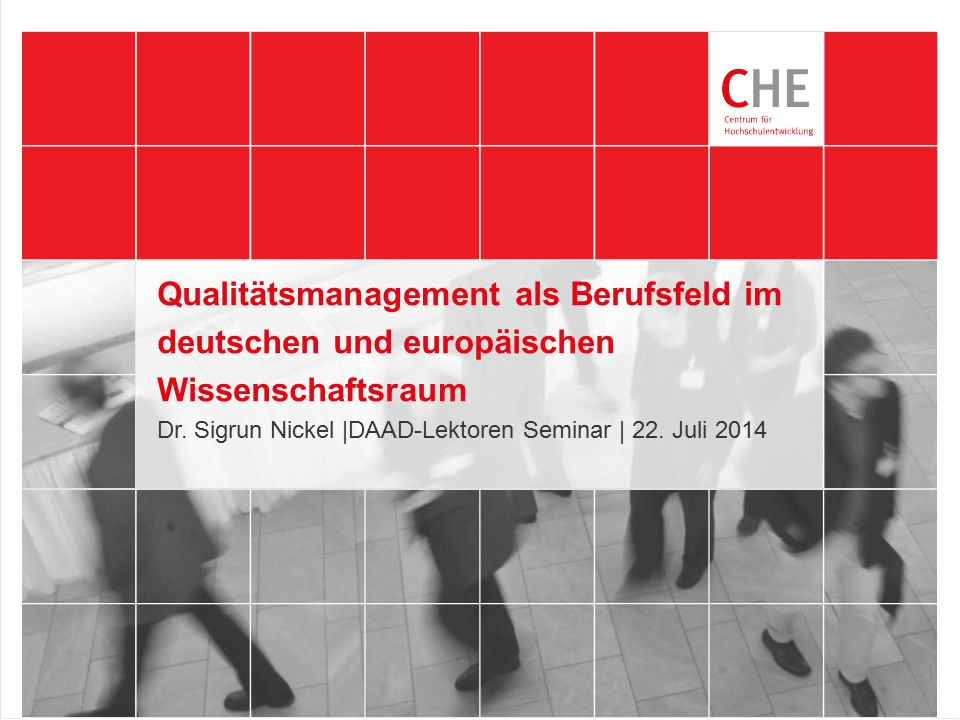 Dr. Sigrun Nickel |DAAD-Lektoren Seminar | 22. Juli 2014
