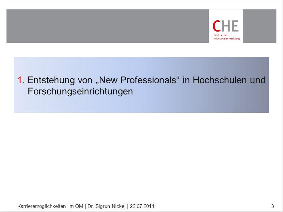 """1. Entstehung von """"New Professionals in Hochschulen und Forschungseinrichtungen"""