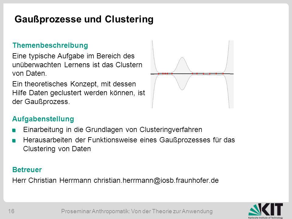 Gaußprozesse und Clustering