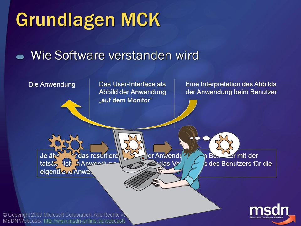 Grundlagen MCK Wie Software verstanden wird Die Anwendung