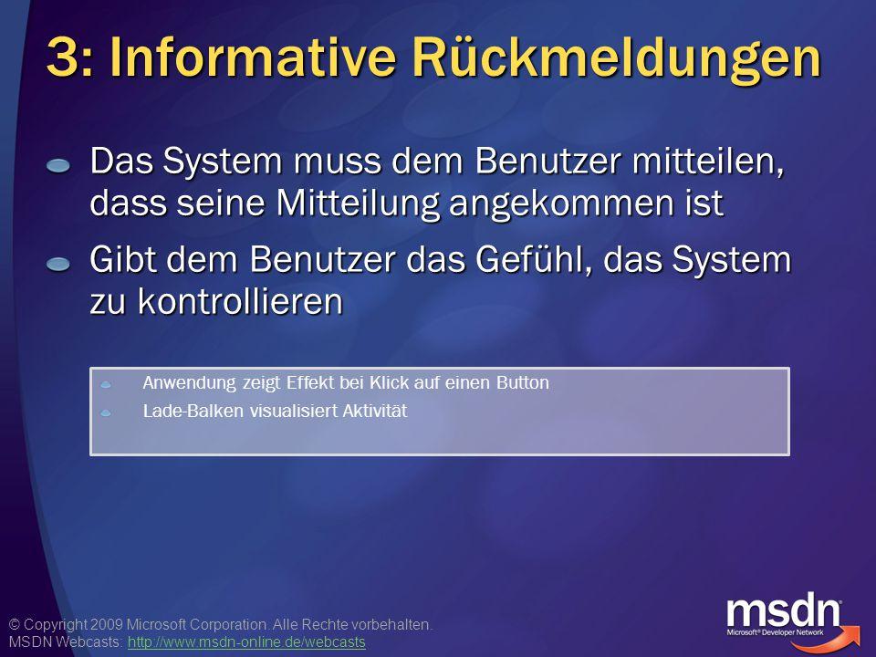 3: Informative Rückmeldungen