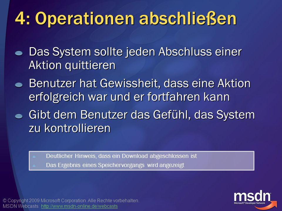 4: Operationen abschließen