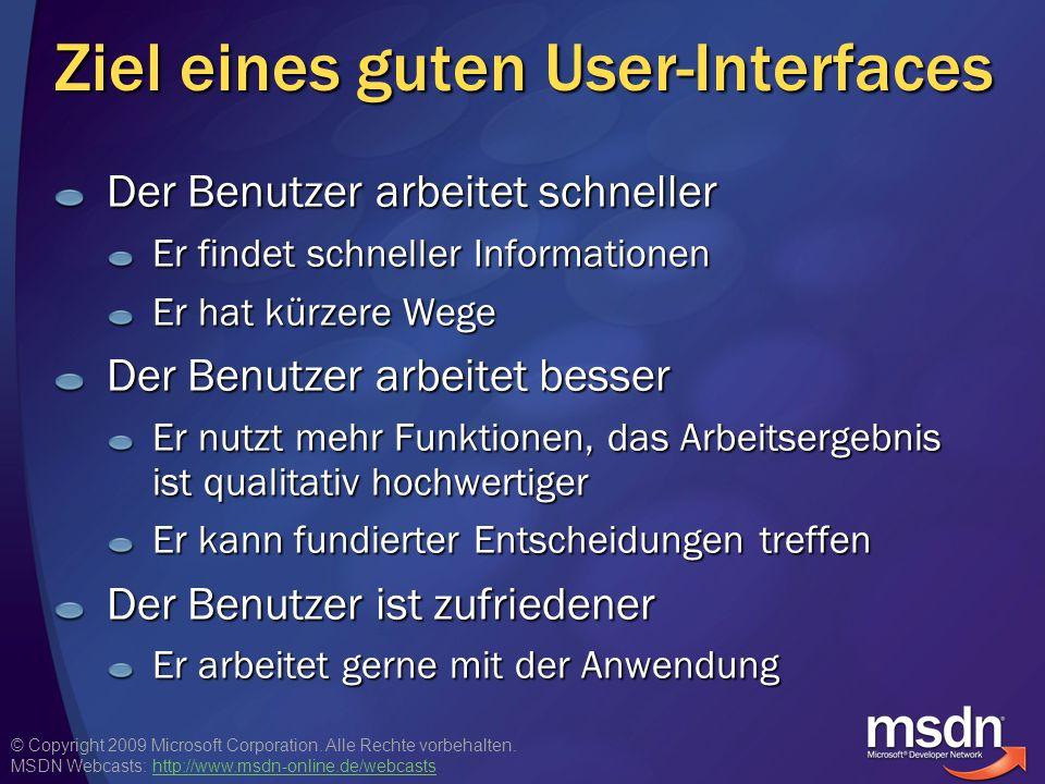 Ziel eines guten User-Interfaces