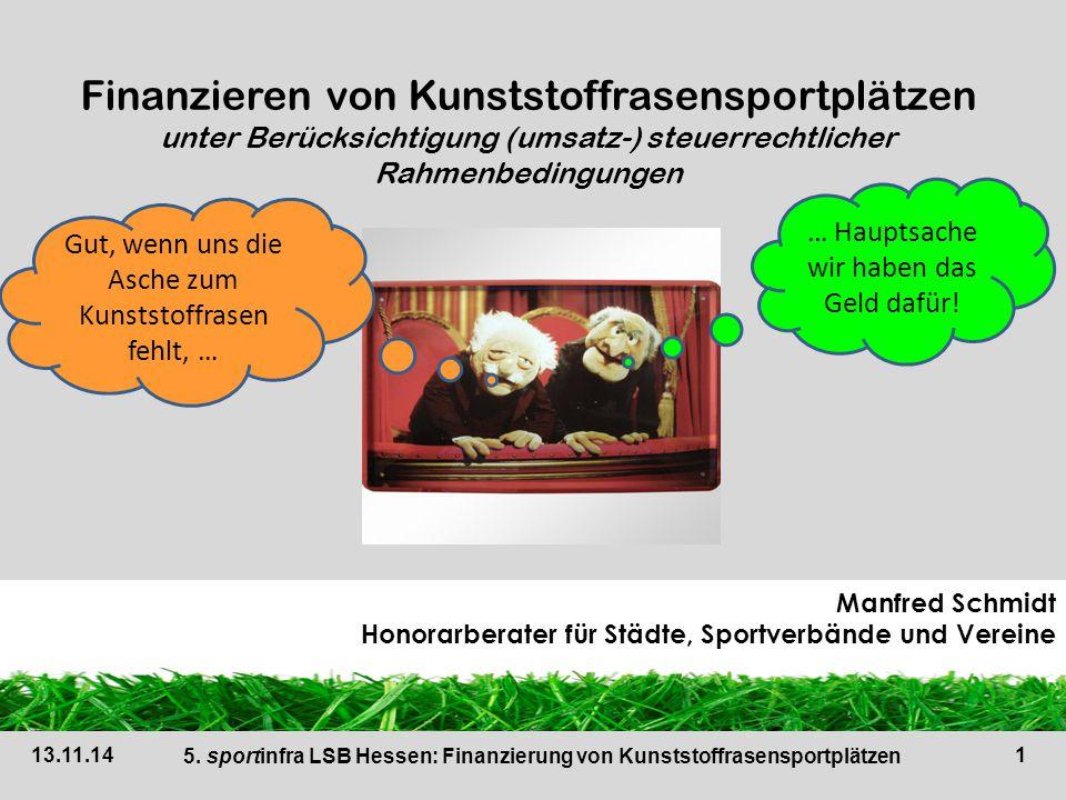 5. sportinfra LSB Hessen: Finanzierung von Kunststoffrasensportplätzen