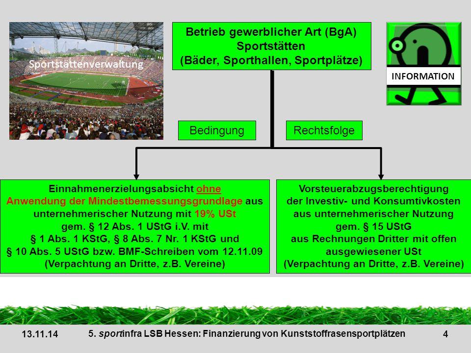 Sportstättenverwaltung Betrieb gewerblicher Art (BgA) Sportstätten