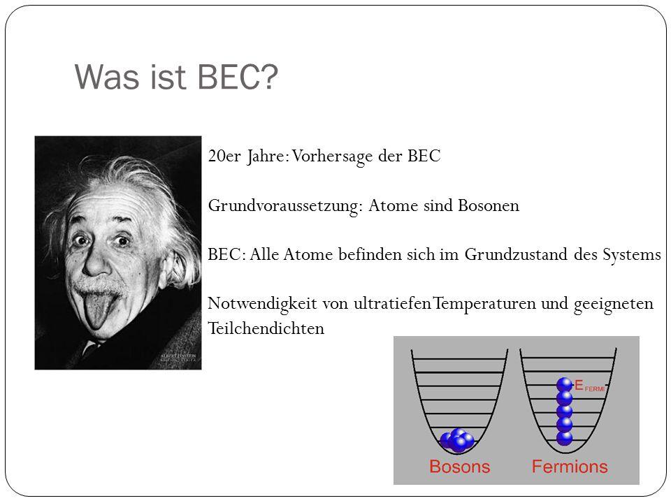 Was ist BEC 20er Jahre: Vorhersage der BEC