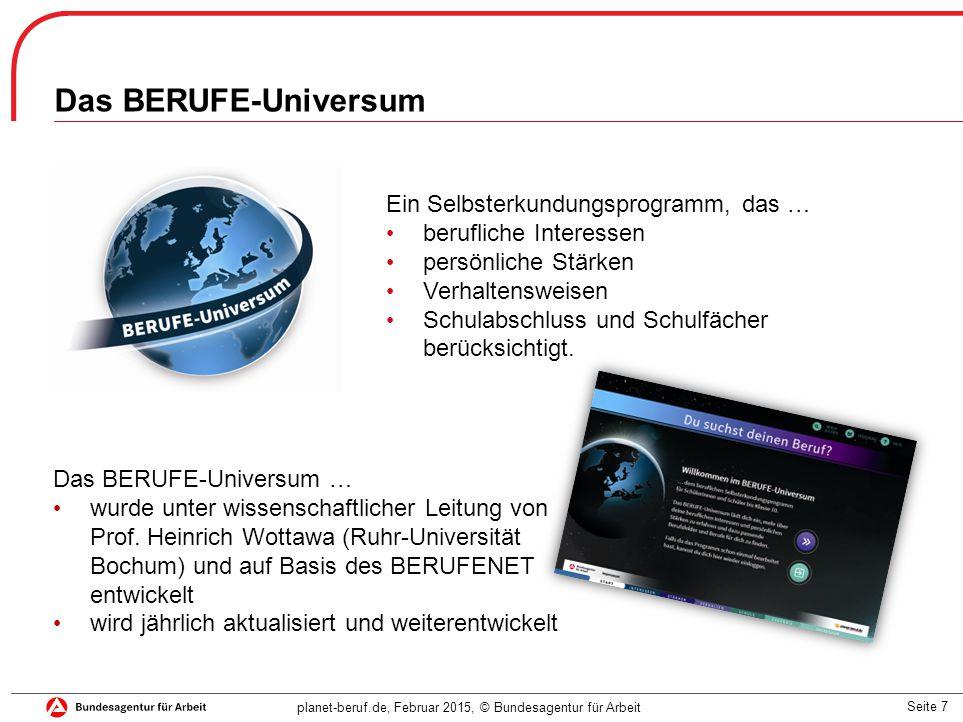 Das BERUFE-Universum Ein Selbsterkundungsprogramm, das …