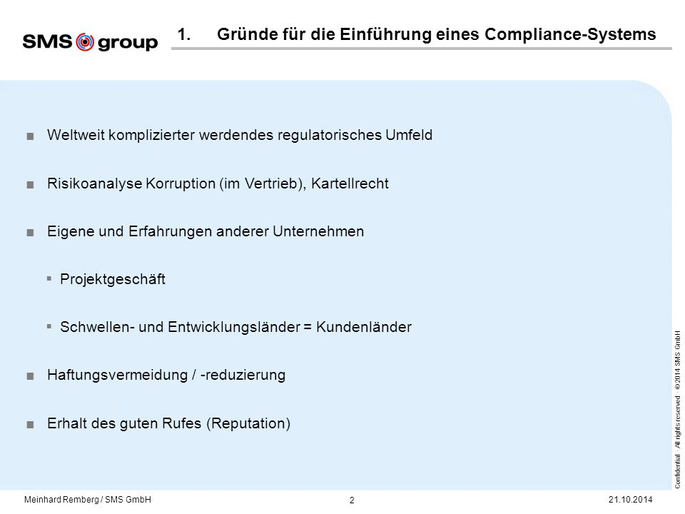 2. Compliance-System der SMS group