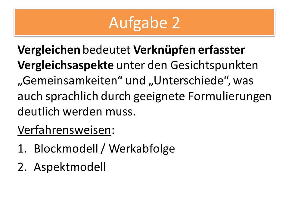 Werk im Kontext 03.11.2014. Aufgabe 2.