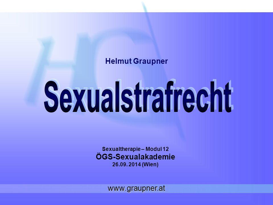 Sexualtherapie – Modul 12 ÖGS-Sexualakademie 26.09. 2014 (Wien)
