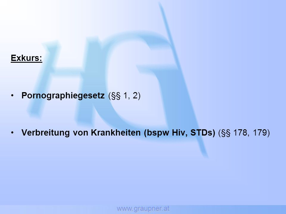 Pornographiegesetz (§§ 1, 2)