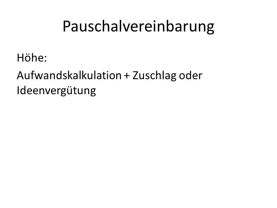 Pauschalvereinbarung