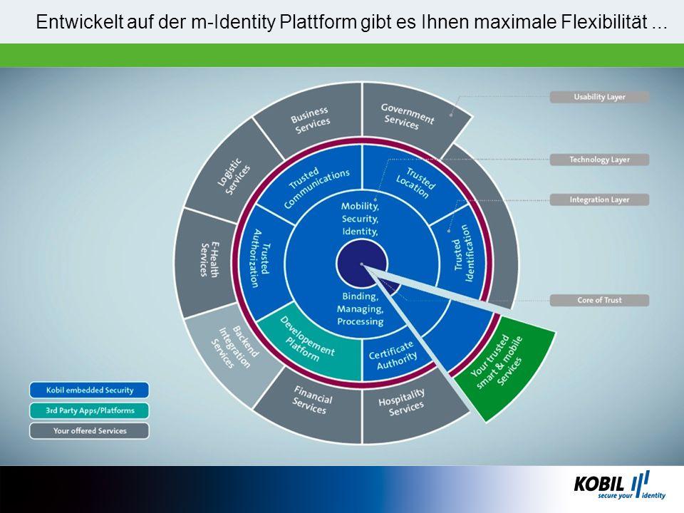 Entwickelt auf der m-Identity Plattform gibt es Ihnen maximale Flexibilität ...