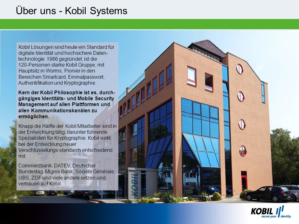 Über uns - Kobil Systems