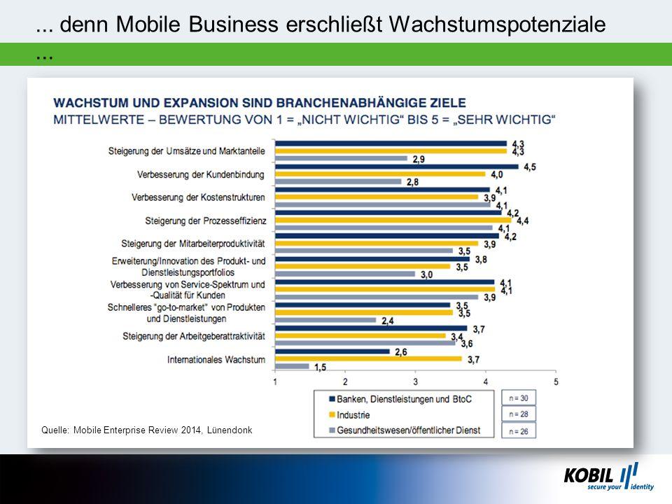 ... denn Mobile Business erschließt Wachstumspotenziale ...