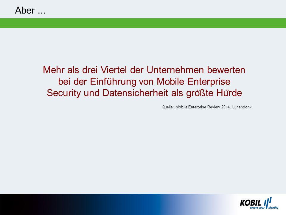 Security und Datensicherheit als größte Hürde